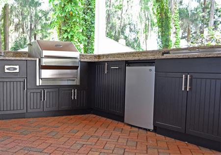 Premium Polymer Outdoor Kitchen Cabinets | Danielle Fence ...